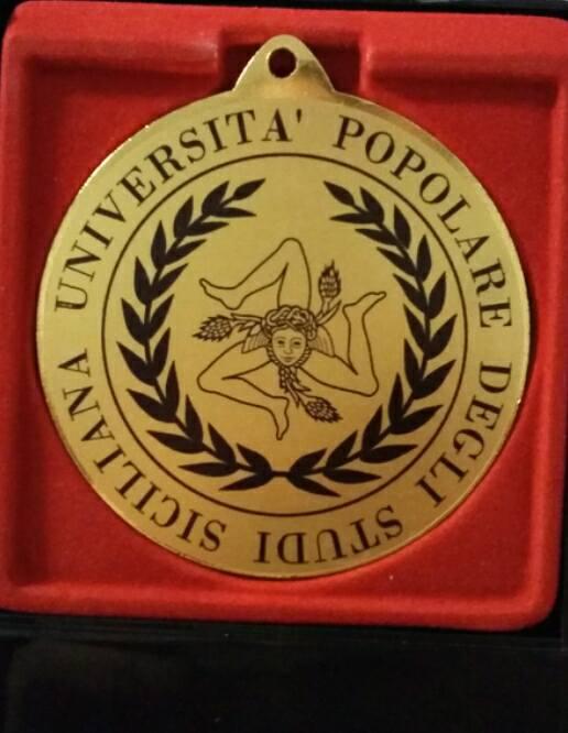 Medaglia D'Oro Università Popolare Degli Studi Siciliana