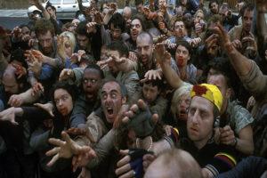zombie che vanno a comprare